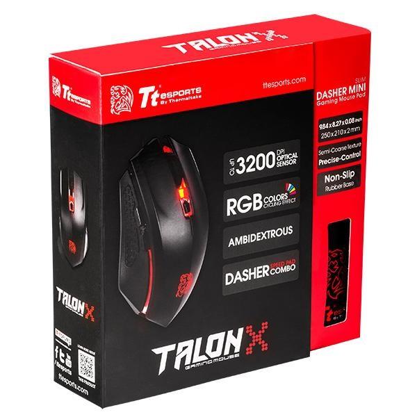 Ttesports Talon X USB fekete gamer egér + egérpad - 6
