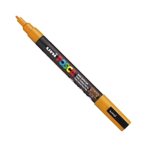Uni POSCA PC-3M ragyogó sárga marker - 1