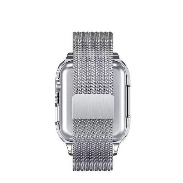 USAMS ZB68IW2 mágneses 44mm ezüst Apple Watch szíj és tok - 1
