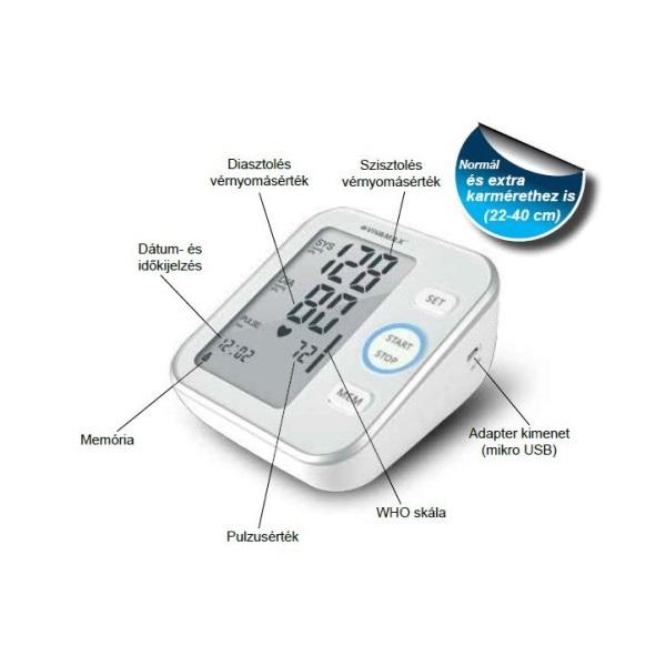 Vivamax GYV14 felkaros vérnyomásmérő - 2