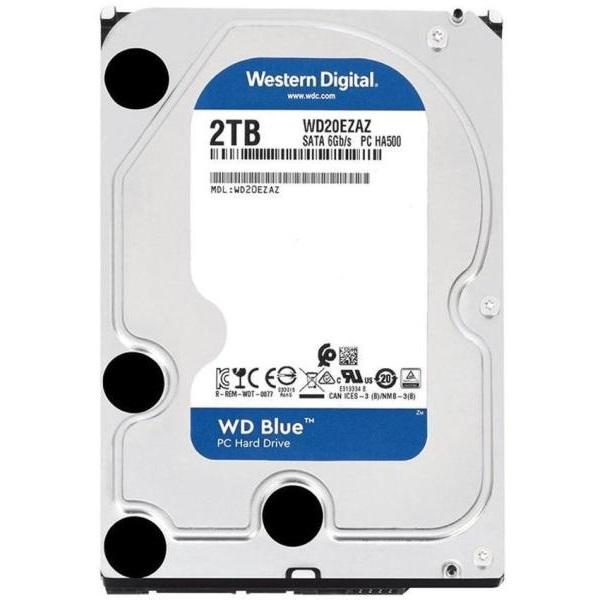 Western Digital 3,5 2000GB belső SATAIII 5400RPM 256MB Blue advanced format WD20EZAZ winchester - 1