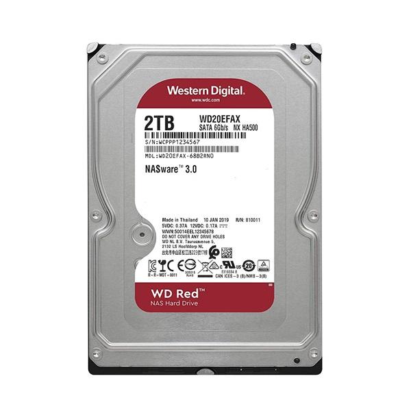 Western Digital 3,5 2000GB belső SATAIII 5400RPM 256MB RED WD20EFAX winchester 3 év - 1