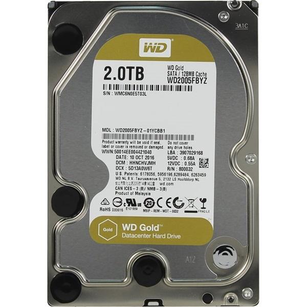 Western Digital 3,5 2000GB belső SATAIII 7200RPM 128MB Gold WD2005FBYZ winchester - 1