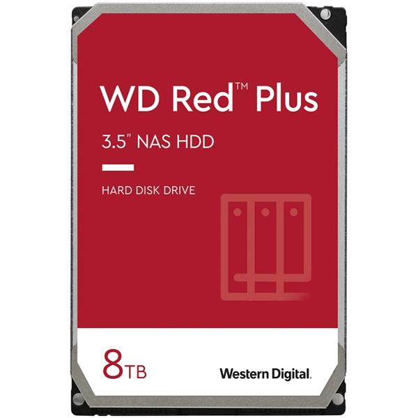 Western Digital 3,5 8000GB belső SATAIII 7200RPM 256MB RED PLUS WD80EFBX winchester 3 év - 1