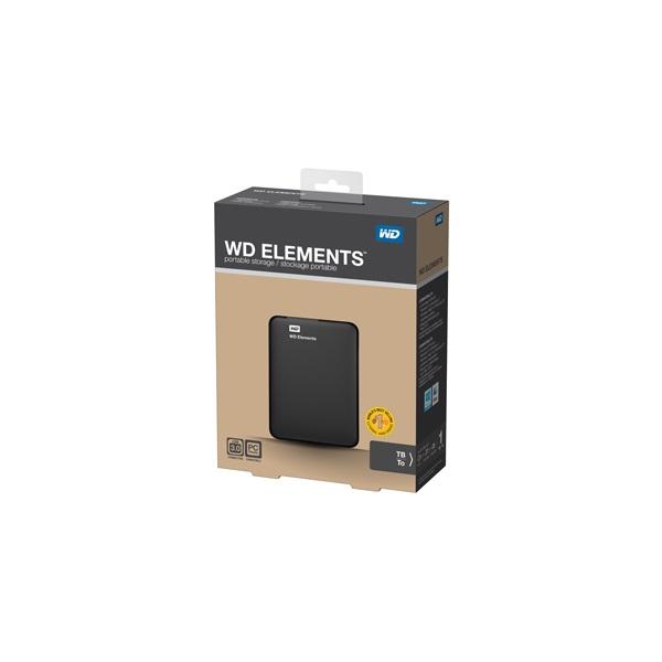 Western Digital Elements Portable WDBUZG0010BBK 2,5 1TB USB3.0 fekete külső winchester - 1