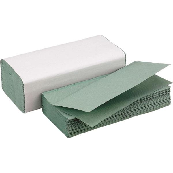 """Z"""" 1 rétegű zöld 250lap 20/karton hajtogatott kéztörlő - 1"""